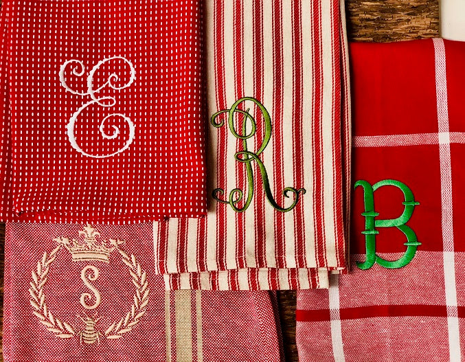 Assorted Red Kitchen Towels