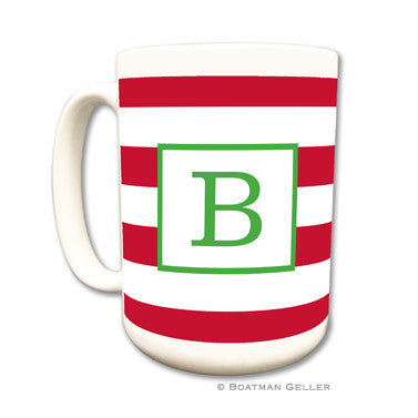 Awning Stripe Red Coffee Mug