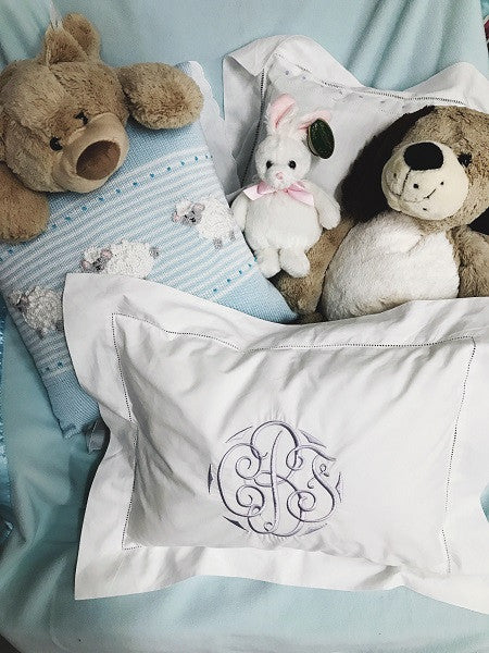 Monogrammed Matouk Pillow