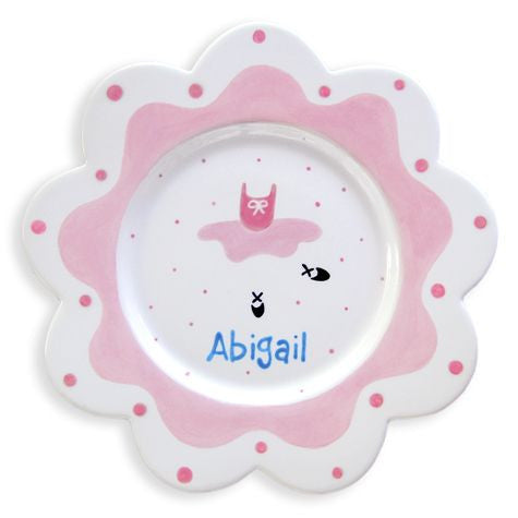 Personalized Ballerina Plate