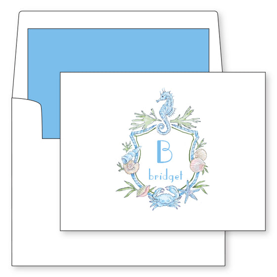 Beach Crest Initial Foldover Notes