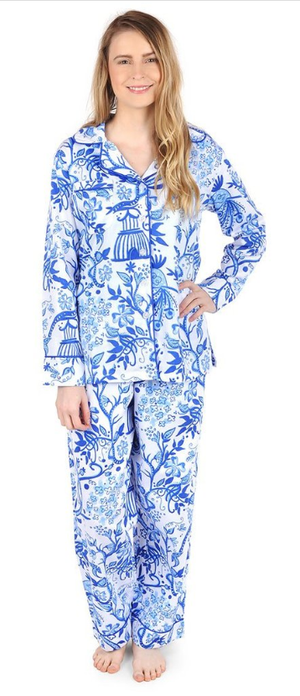 Birds of a Feather Sateen Pajama Set