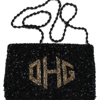 Monogrammed Beaded Evening Bag