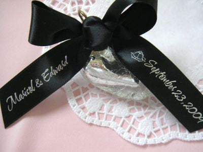 Custom Printed Satin Ribbon - Browns & Black
