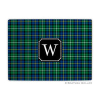 Black Watch Plaid Glass Cutting Board