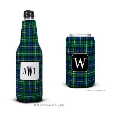 Black Watch Plaid Koozies