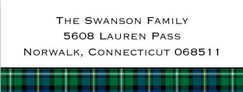 Blackwatch Plaid Address Label