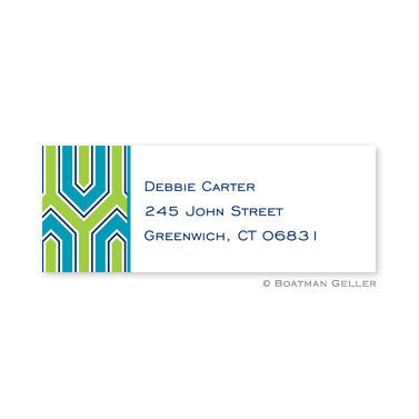 Blaine Turquoise Address Label