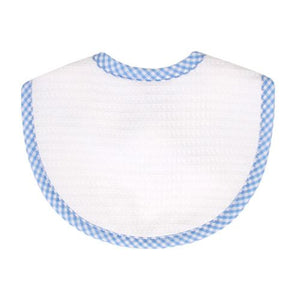 Blue Gingham Pique Medium Bib