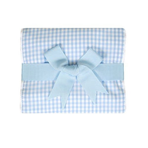 Blue Gingham Burp Pad