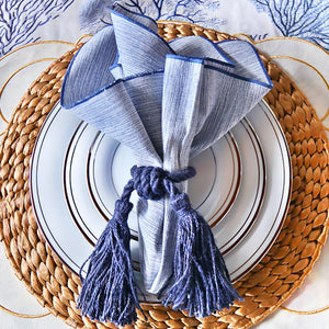 Grasscloth Luncheon Napkins/Set of 4