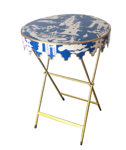 Navy Beijing Glenbrook Table by Dana Gibson