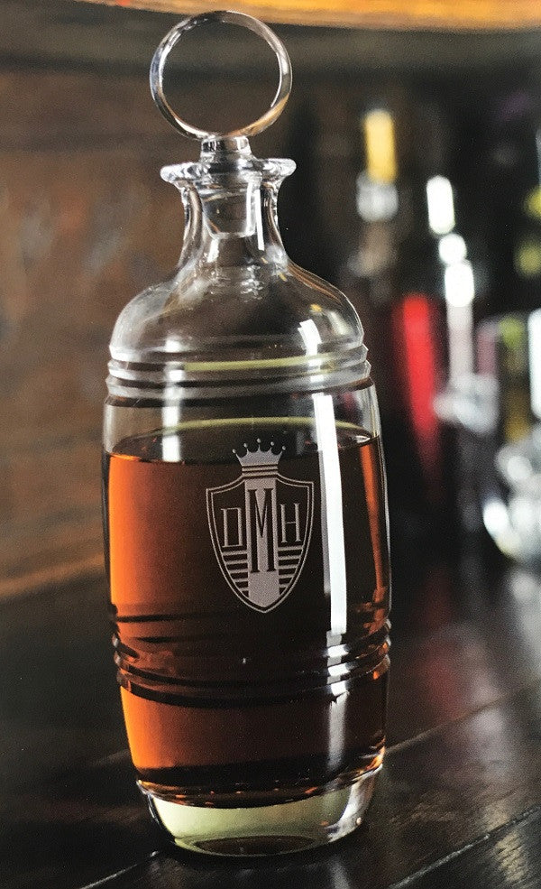 Monogrammed Bluegrass Decanter