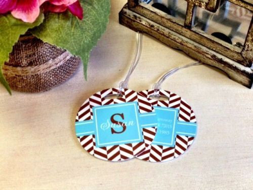 Custom Boardwalk Pair of Round Luggage Tags