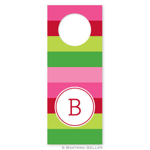 Bold Stripe Pink and Green Wine Tags