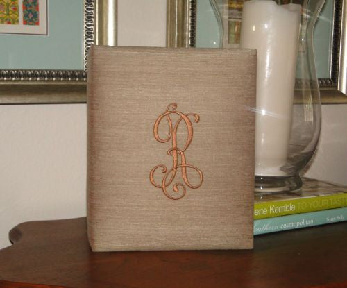 Large Monogrammed Silk Photo Album