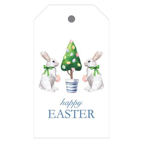 Happy Easter Bunny Tree Gift Tags