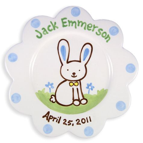 Personalized Bunny Plate (Boy)