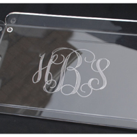 Monogrammed Rectangle Butler Tray