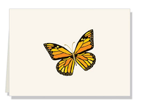 Personalized Butterfly Folded Notes