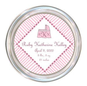 Pink and White Baby Coaster