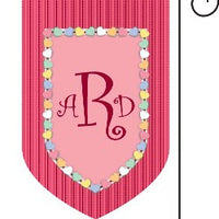 Monogrammed Candy Hearts Garden Flag
