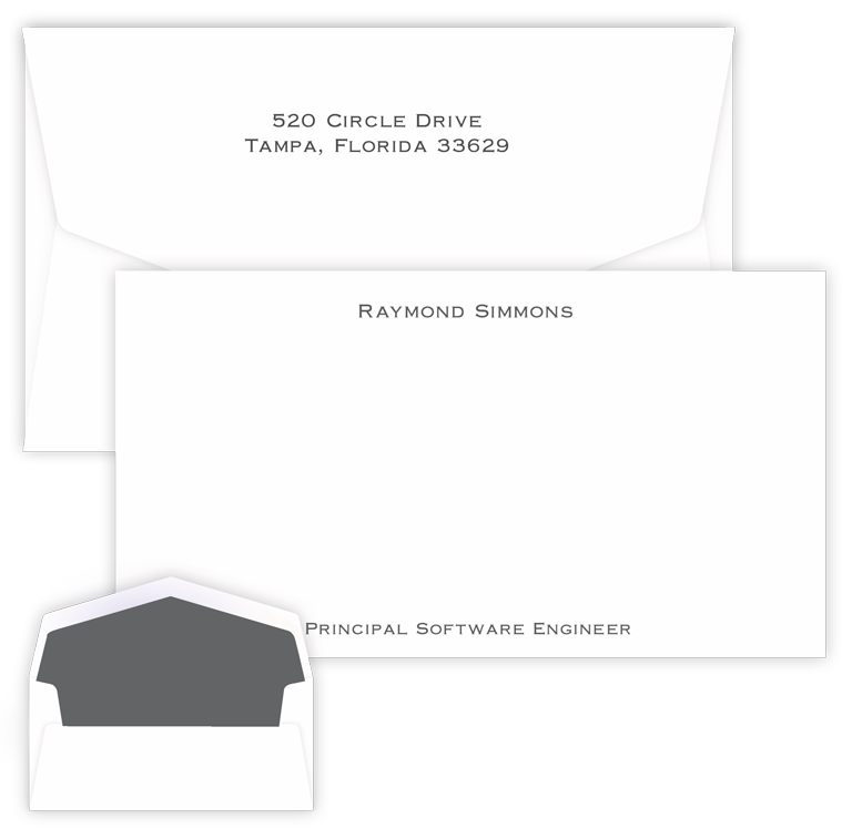 Executive Raised Ink Flat Chesapeake Card