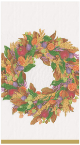 Autumn Wreath Ivory Guest Towel