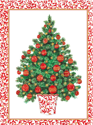 Decorated Tree Guest Towel