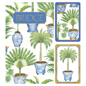 Potted Palms Bridge Gift Set - 2 Score Pads