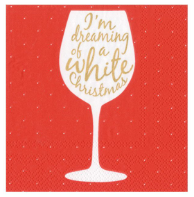 Wine Christmas Cocktail Napkin