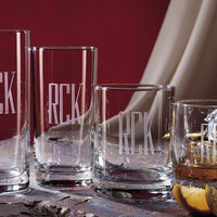 Engraved Casual Glass Collection