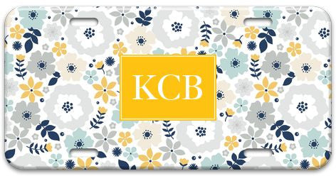 Personalized Blooms License Plate