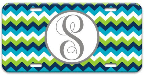 Personalized Chevron License Plate