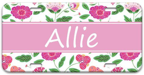 Personalized English Garden License Plate