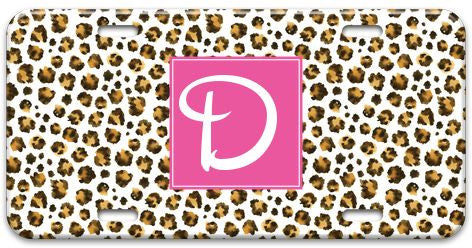 Personalized Leopard Spots License Plate
