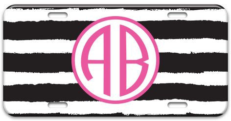 Personalized Painted Stripe License Plate