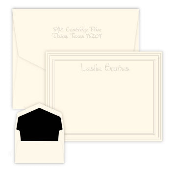 Constance Embossed Flat Correspondence Card
