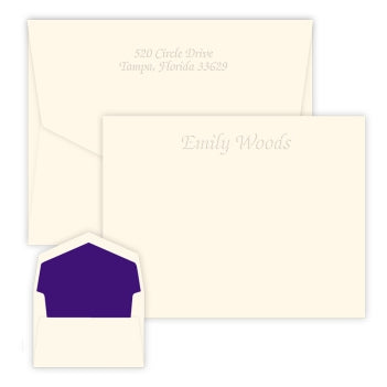 Mayfair Embossed Flat Correspondence Card