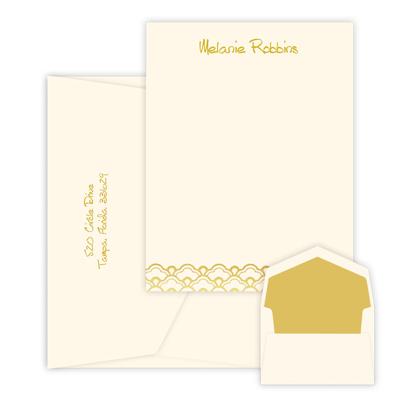 Centric Foil Pressed - Raised Ink Flat Correspondence Card