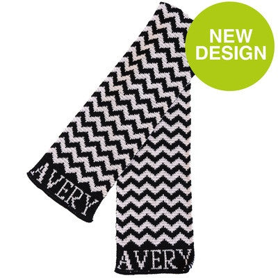 Personalized Chevron Scarf