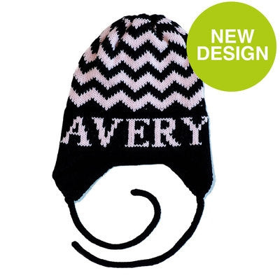 Personalized Chevron Hat with Earflaps