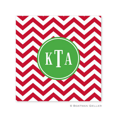 Chevron Red Coaster