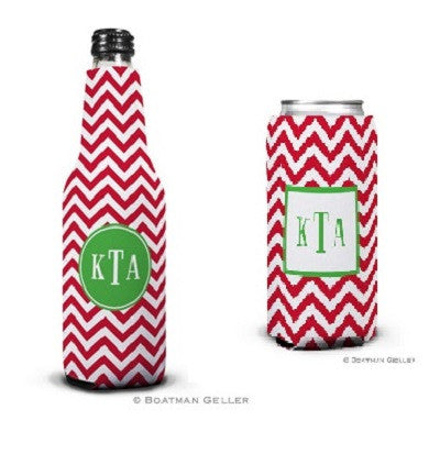 Chevron Red Koozies