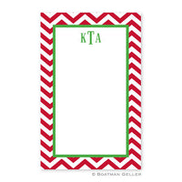 Chevron Red Notepad