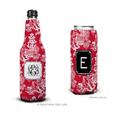 Chinoiserie Red Koozies