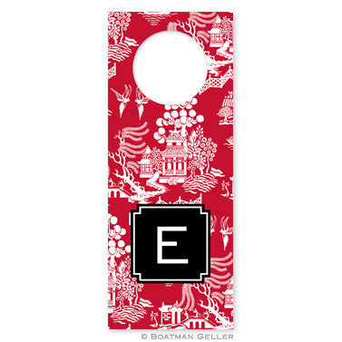 Chinoiserie Red Wine Tags