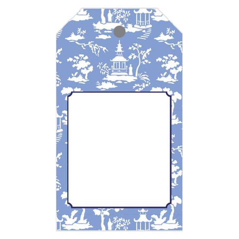 Chinoiserie Toile Gift Tag