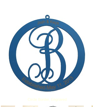 Classic Circle Monogram Door Hanger