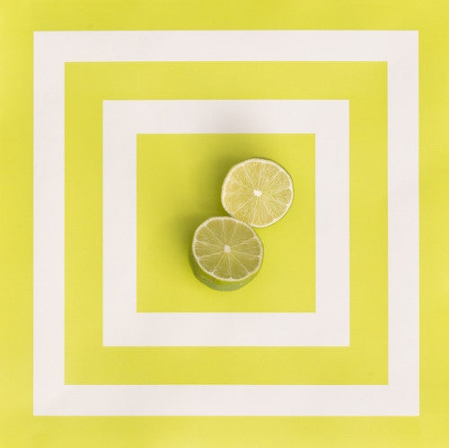 Square Citron Paper Placemats